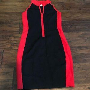 NWOT Lf Black and red mini dress